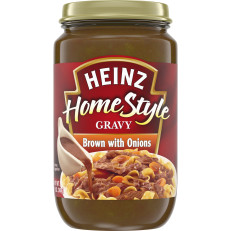 Heinz Home-style Brown Gravy with Onions, 12 oz Jar image