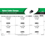 "Black Nylon Cable Clamps Assortment (1/2"" Wide for 3/16"" thru 5/8"" Cable)"