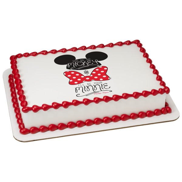 Mickey & Minnie You Be My, I'll Be Your PhotoCake® Edible Image®