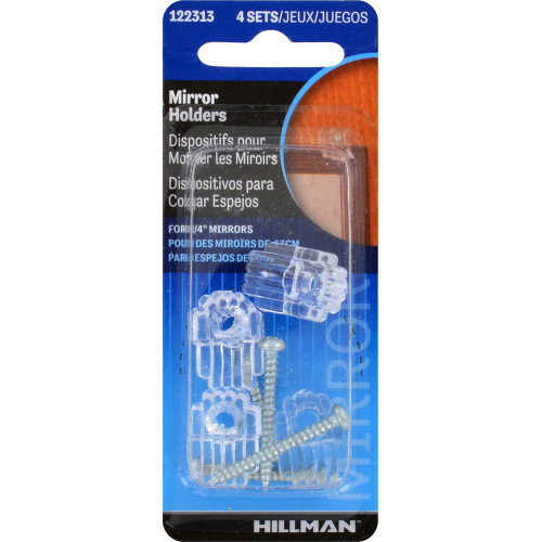 Hillman Plastic Mirror Holders Heavy Duty 4 Piece