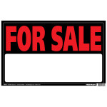 "For Sale Fluorescent Sign, 12"" x 19"""