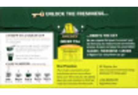 Front of Green Tea with Peach Box - 20 tea bags per box