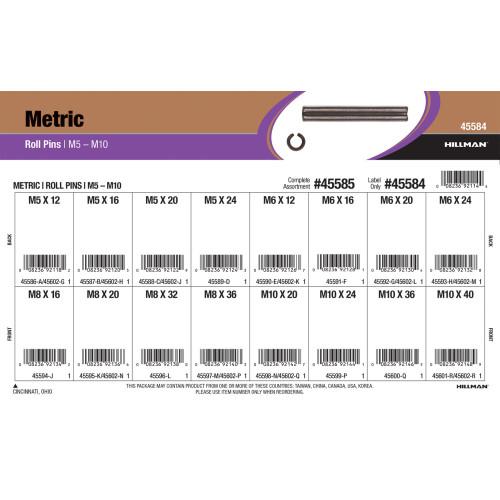 Metric Tension Pins Assortment (M5 thru M10 Diameter)