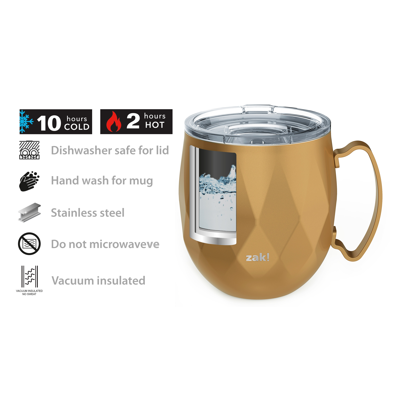 Fractal 19 ounce Mule Mug, Copper slideshow image 2