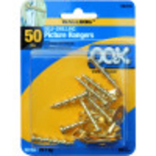 OOK Walldog Gold Hook Hangers 10 Pack 100lb