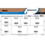 Class 10.9 Metric Hex Cap Screws Assortment (M14-2.00 Thread)