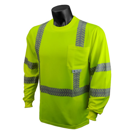 Radians ST24-3 Class 3 High Visibility Safety T-Shirt with Rad-Shade® UV Protection