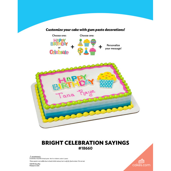 Bright Celebratory Sayings The Magic of Cakes® Page