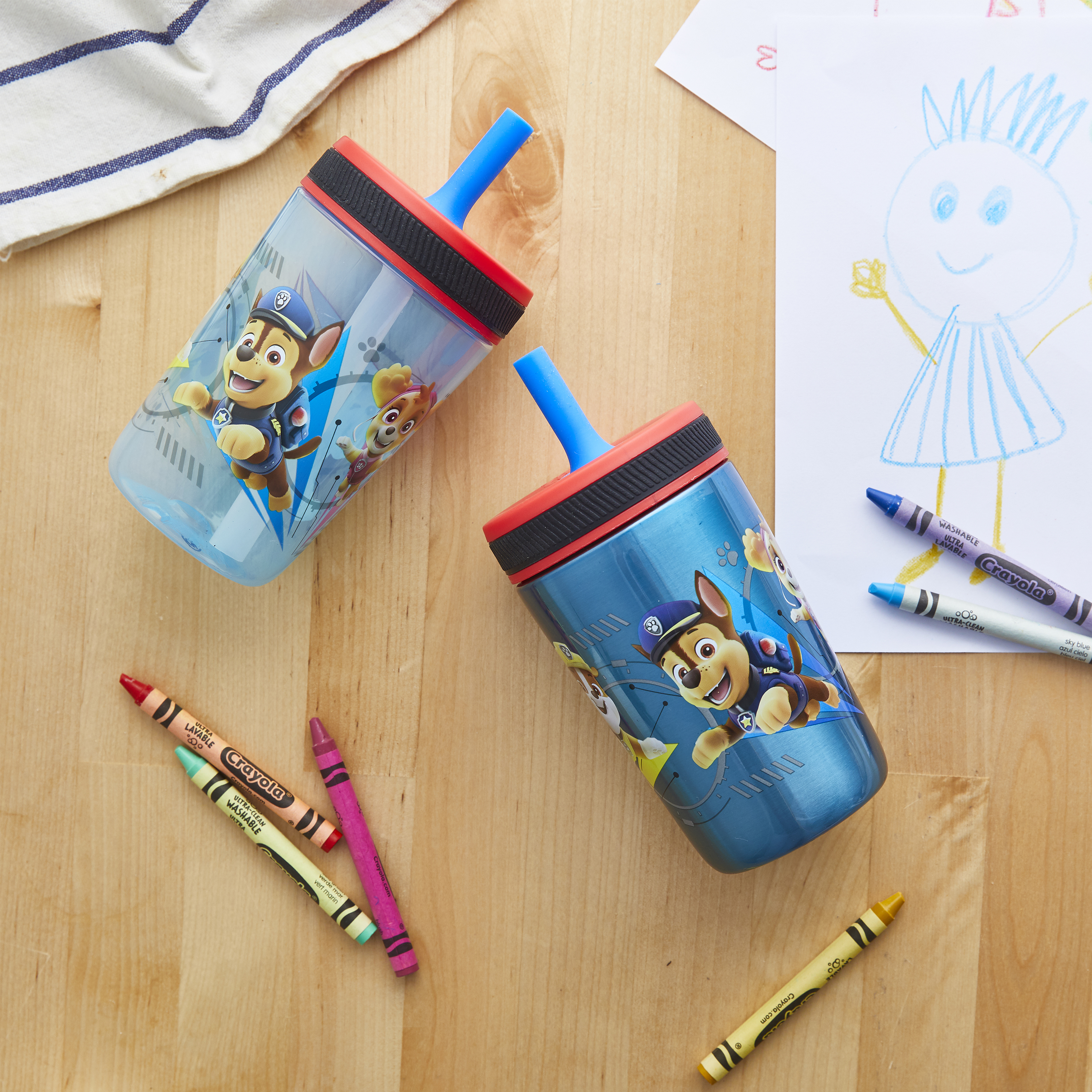 Paw Patrol 15  ounce Plastic Tumbler, Chase, Skye, Marshall and Friends, 3-piece set slideshow image 7