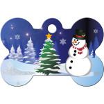 Snowman Large Bone Quick-Tag