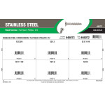 Phillips Flat-Head Stainless Wood Screws Assortment (#12)