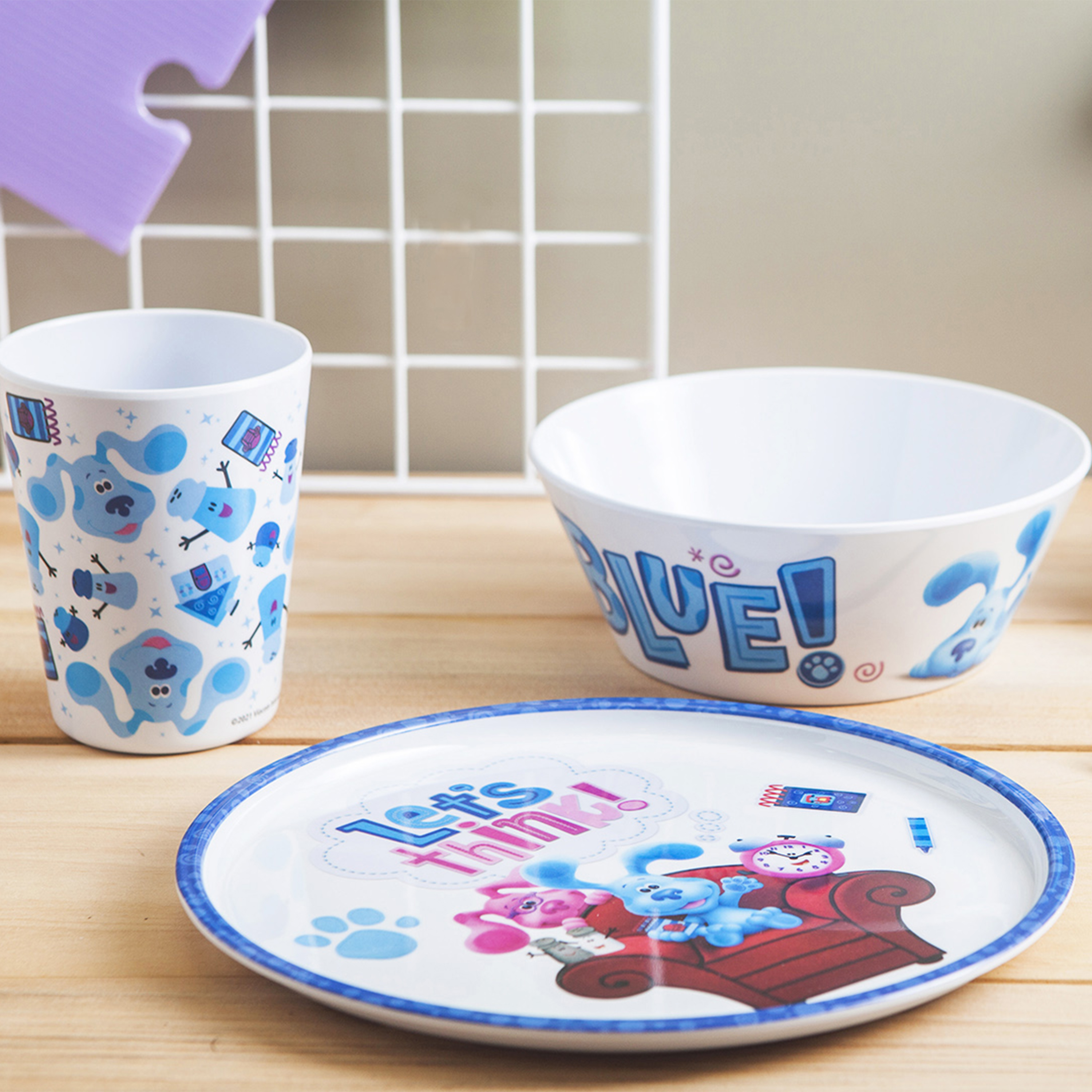Blues Clues and You Kids Dinner Set, Blue and Friends, 5-piece set slideshow image 10