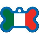 Italian Flag Large Bone Quick-Tag