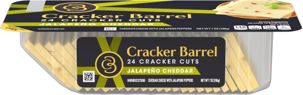 Cracker Barrel Cracker Cuts Jalapeno Cheddar Cheese 24 Slices - 7 oz Tray