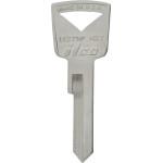 Ford Brass Auto Key Blank H-27