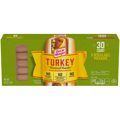 Oscar Mayer Turkey Franks 30 count Box