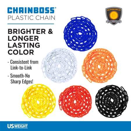 "Orange 2"" Plastic Chain Ft. SunShield - 100' 4"