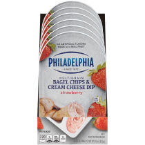 PHILADELPHIA 15 OZ BAGEL CHIPS & CREAM CHEESE DIP CHEESE SNACKS STRAWBERRY 1 BOX/CARTON EACH