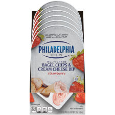 Philadelphia Bagel Chips & Strawberry Cream Cheese Dip 6 - 2.5 oz Packs