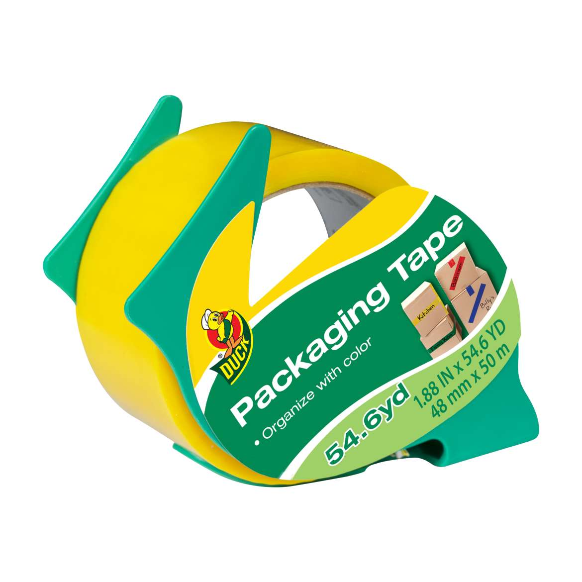 Duck® Brand Color Coding Packaging Tape - Yellow, 1.88 in. x 54.6 yd. Image