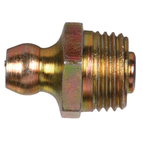 Yellow Metric Grease Fitting (Straight Construction w/ M6-1.00 Regular Pitch)