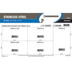 "Stainless Steel Full-Thread Hex Bolts Assortment (7/16""-14)"
