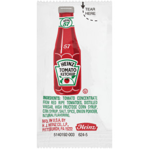 HEINZ Single Serve Ketchup Packet, 9 gr. (Pack of 1500) image