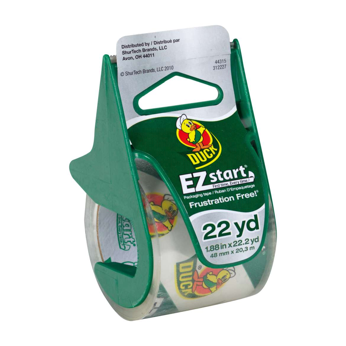 EZ Start® Packaging Tape with Dispenser - Clear, 1.88 in. x 22.2 yd. Image