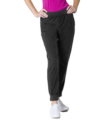 Smitten Miracle Super Stretch Jogger Scrub Pants for Women: 2 Pocket, Contemporary Slim Fit, Yoga Waist, Medical Scrubs S201007-Smitten