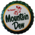 Aluminum Mountain Dew Bottle Cap 12in