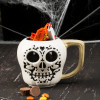 Halloween 15 ounce Coffee Mug and Spoon, Sugar Skull slideshow image 6