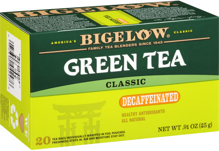 Green Tea Decaf - Case of 6 boxes- total of 120 teabags
