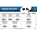 "Clamping & Bar Knobs Assortment (7/8"" Thru 2-1/2"" Diameter)"