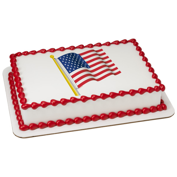 American Flag PhotoCake® Edible Image®