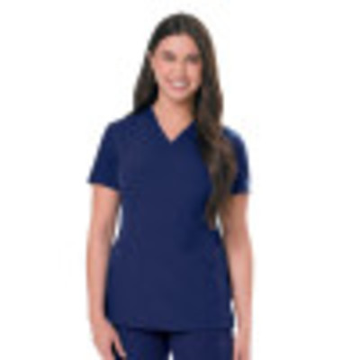 Urbane Ultimate V-Neck Scrub Top for Women: 2 Pocket, Contemporary Slim Fit, Luxe Soft Stretch Fabric, Medical Scrubs 9076-Urbane