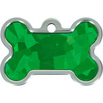 Emerald Holo Insert Large Bone Quick-Tag