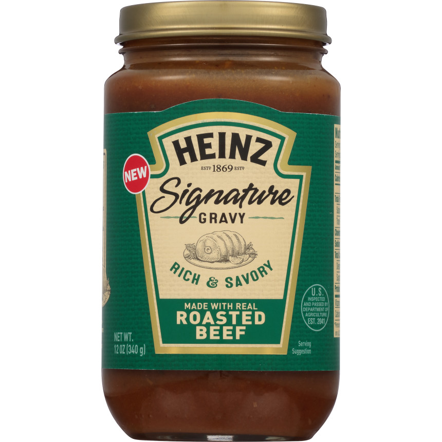 Heinz Signature Roasted Beef Gravy, 12 oz Jar image