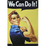 "Rosie the Riveter We Can Do It Novelty Sign (12"" x 18"")"