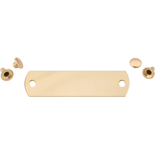 Polished Brass Small Rivet Quick-Tag 25 Pack