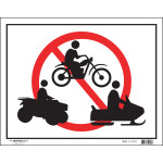 No Recreational Vehicles Sign