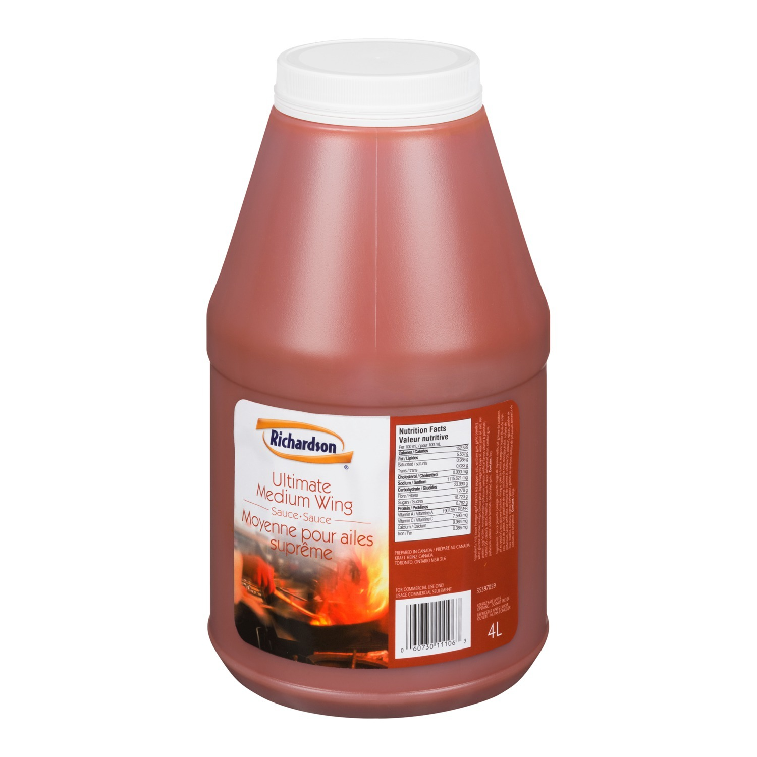 RICHARDSON Ultimate Medium Wing Sauce 4L 2