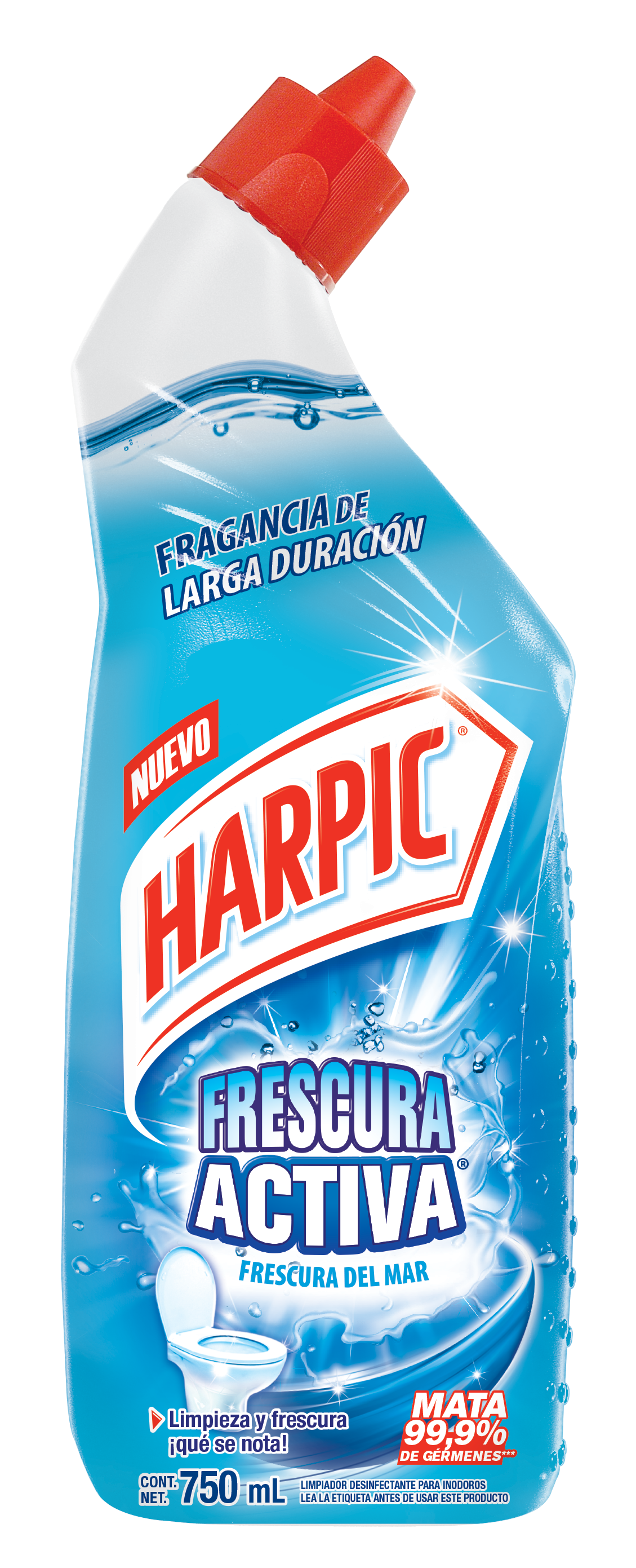 Harpic® Frescura Activa Frescura Marina, 750ml