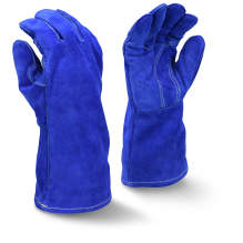 Radians RWG5410 Premium Side Split Blue Cowhide Leather Welding Glove
