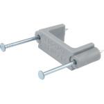 Gray Nail Wire Clip