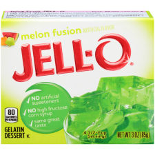 Jell-O Melon Fusion Gelatin Mix 3 oz Box