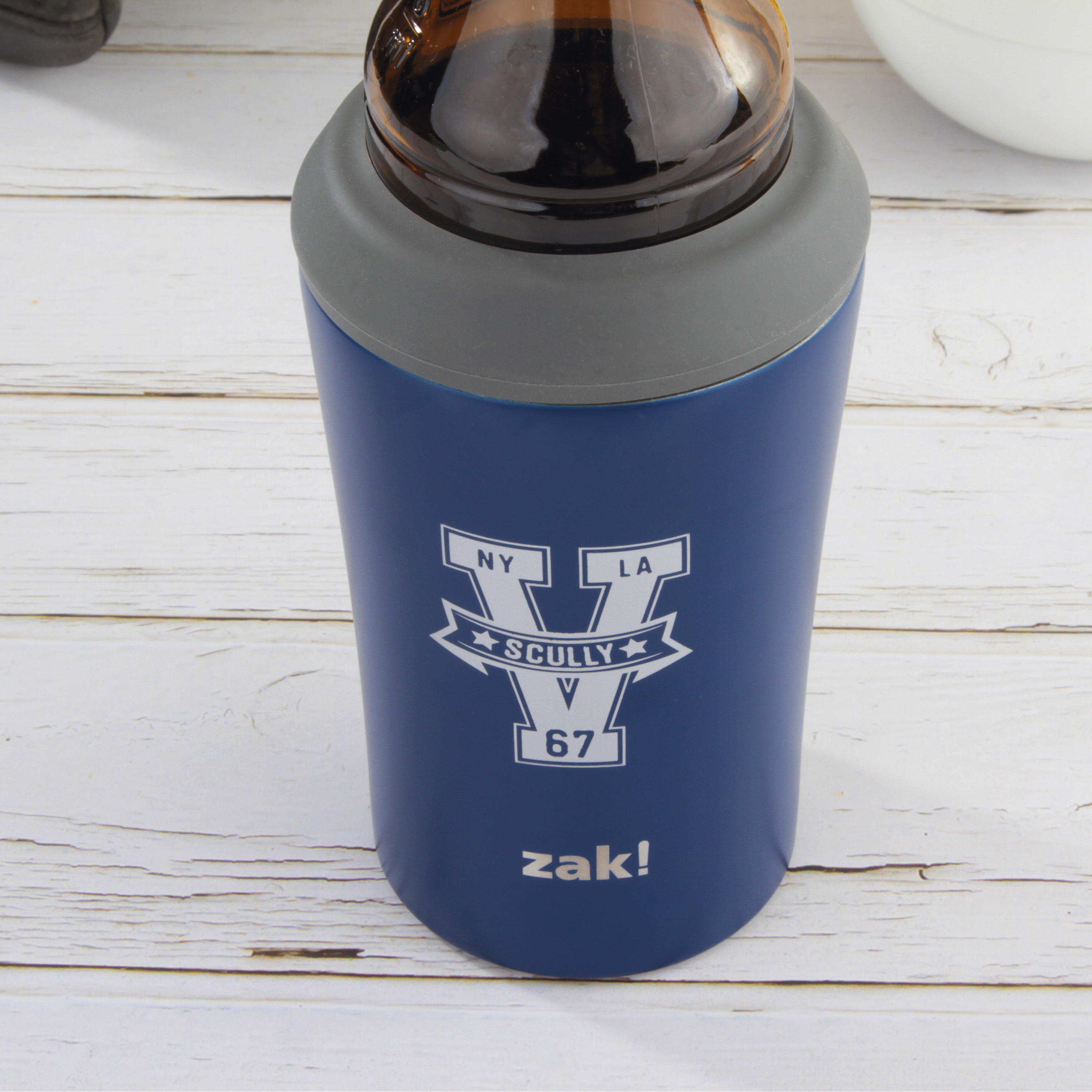 Zak Hydration 12 ounce Double Wall Stainless Steel Can and Bottle Cooler with Vacuum Insulation, Vin Scully slideshow image 9