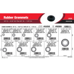 "Rubber Grommets Assortment (1/8"" Inner Dia. - 11/32"" Outer Dia. thru 5/8"" Inner Dia. - 1 1/8"" Outer Dia.)"