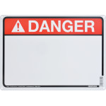 "Aluminum Blank Danger Sign 10"" x 14"""