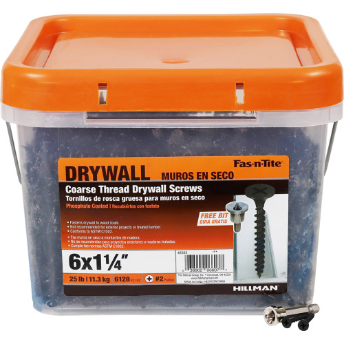Fas-n-Tite Coarse Drywall Screw #6 x 1-1/4