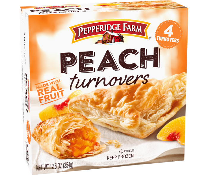 Frozen Peach Turnovers Pastries